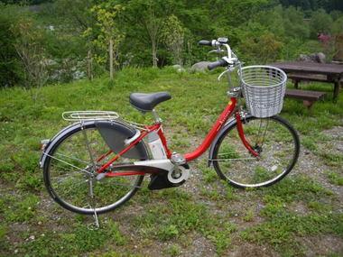 白馬の電動自転車レンタサイクル