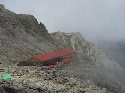 槍ヶ岳山荘へ