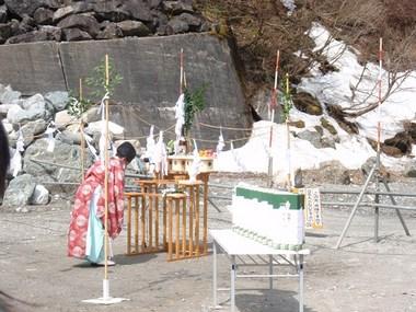 白馬連峰開山祭貞逸祭2012