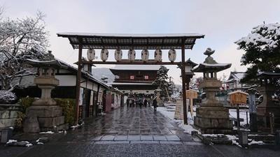 善光寺で初詣