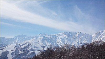 快晴の岩岳