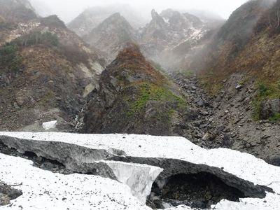 秋の白馬大雪渓