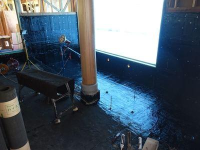 温泉棟の工事
