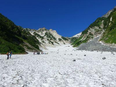 白馬大雪渓から