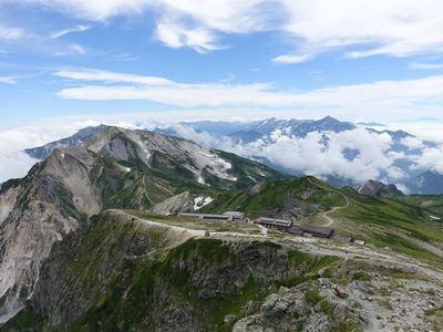 白馬岳山頂付近