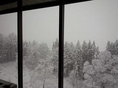雪の白馬村