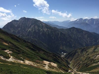 秋のアルプス唐松岳
